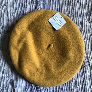 "Merona Beret Womens 100% Wool 11"" Tam French Hat"